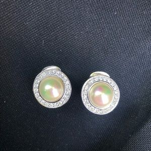 Christian Dior vintage pearl clip on earrings